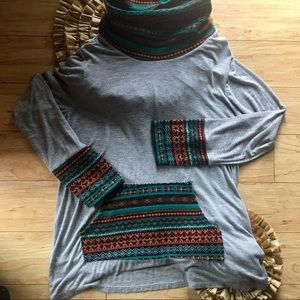 3 For $25 Filly Flair Boho Long Sleeve Top Size L
